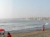 Panorama op het strand