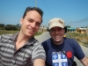 Ik en Hugo achterop de tuktuk having the time of our lives