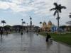 Het centrale plein in Trujillo