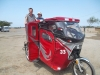 Achterop de tuktuk