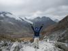 Sander op het hoogste punt 4612 meter