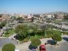 Uitzicht vanuit mijn hotel op het centrale plein