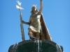 Gouden Inca op Plaza de Armas