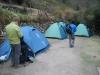 De tenten waarin we slapen