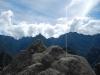 Een rots die de vorm heeft van de bergen