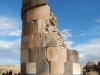 De grootste graftoren van 12 meter hoog