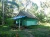 Het hutje waarin we slapen