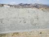 De muur met voetafdrukken