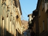 Vanuit de straten in Potosi is de Cerro Rico te zien