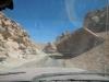 Het rotslandschap dat we met de jeep doorkruisen