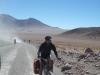 Er zijn ook mensen die zich fietsend in dit landschap begeven