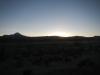 Het eerste straaltje zon komt bijna onze wagon binnen