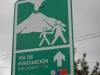 Een verkeersbord dat je in Nederland niet snel zult tegenkomen