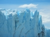 Vooral bij de kam/toplaag van de gletsjermuur
