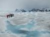 En daar lopen we dan, in de ijswereld