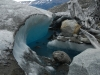De smeltende rand van de gletsjer