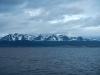 En daar zien we Ushuaia, duidelijk onder de sneeuwgrens