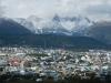 De zuidelijkste stad op aarde, omringd door bergen