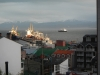 Uitzicht op de haven vanuit mijn nieuwe hostel