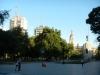 Het centrale plein is eigenlijk één groot park