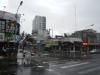 Chaos na de storm onderweg naar het vliegveld