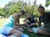 Sandwich in het park