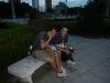 In het park mate drinken