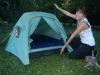 Renee presents: Het luchtbed in de tent