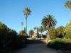 Een prachtig stukje Nationaal park met palmbomen en natuursteen gebouwen