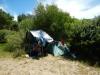 Ons kampement in de bosjes