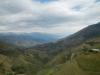 Uitzicht vanuit de bus, onderweg naar Ambato