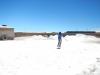 Het drogen van het zout gebeurt op de grond