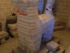 Een lama van zoutblokken