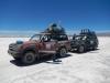 De jeeps waarmee we rijden (de voorste is van ons)